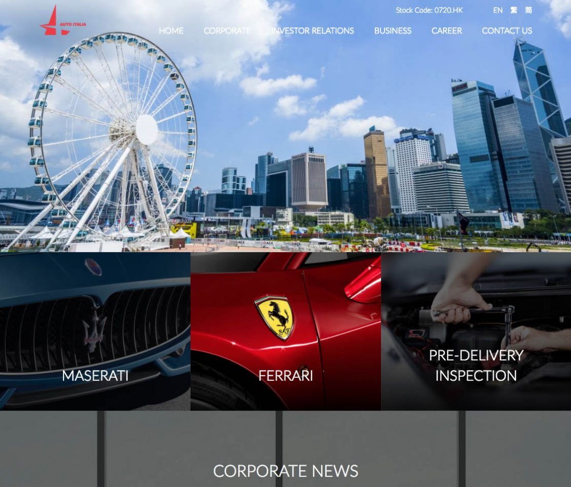 Home page of AutoItalia